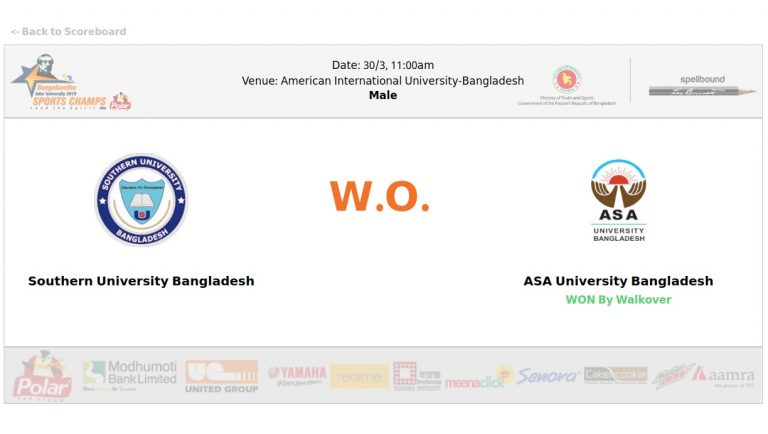 Southern University Bangladesh VS ASA University