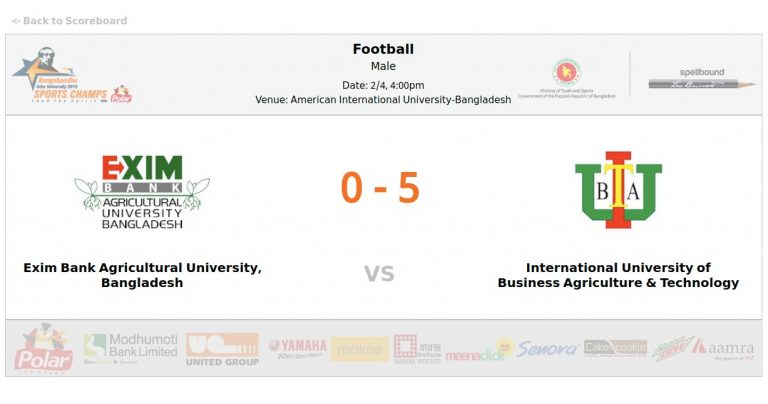 EXIM Bank Agricultural University VS International University of Business Agriculture and Technology