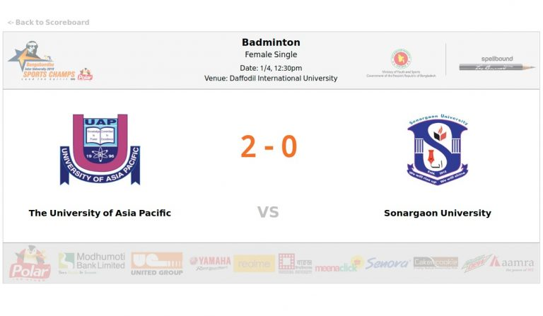 The University of Asia Pacific VS Sonargaon University