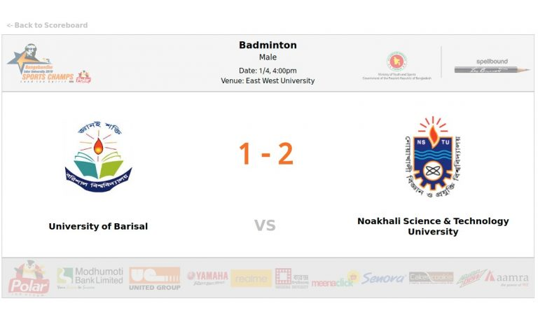 University of Barisal VS Noakhali Science & Technology University
