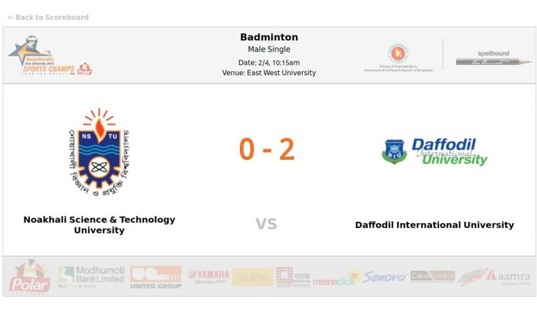 Noakhali Science & Technology University VS Daffodil International University