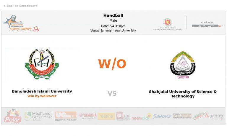 Bangladesh Islamic University VS Shahjalal University of Science and Technology