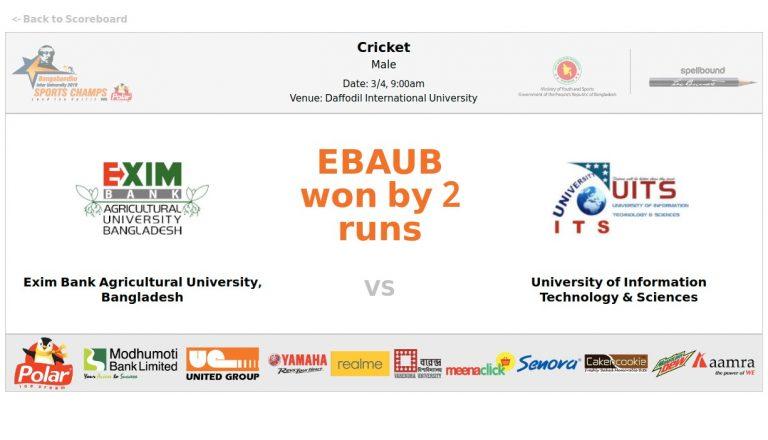 EXIM Bank Agricultural University, Bangladesh VS University of Information Technology & Sciences